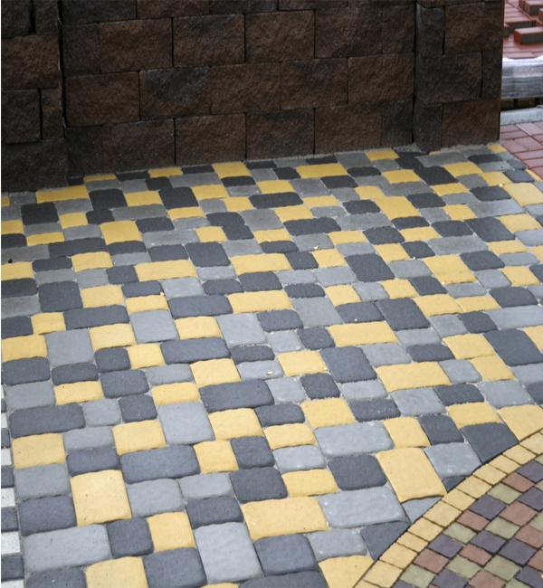 Тротуарная плитка Старая площадь  Золотой Мандарин